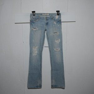 Hollister destroyed womens jeans size 3 Long 7212